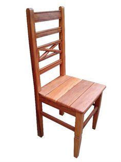 Cadeira Rústica Florença em Madeira de Demolição - Cód 1384 - Bancos e Banquetas - Madeira de Demolição - Barrocarte