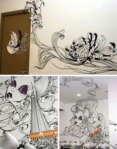 35 exemplos de paredes criativas e inspiradoras | Criatives | Blog Design, Inspirações, Tutoriais, Web Design