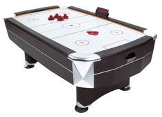 Vortex Air Hockey table is a full size air hockey table with all accessories just Free UK Delivery! - Air Hockey Table - Ideas of Air Hockey Table Air Hockey Games, Snooker Cue, Cool Tables, Black Exterior, Table Games, Argos, Poker Table, Game Room, Home