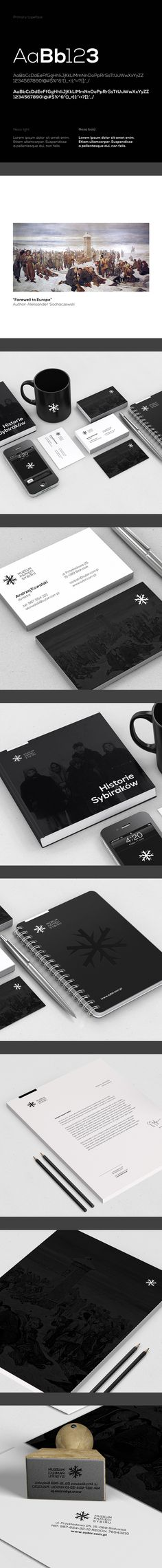 identity / Memorial Museum of Siberia | #stationary #corporate #design #corporatedesign #identity #branding #marketing < repinned by www.BlickeDeeler.de | Take a look at www.LogoGestaltung-Hamburg.de