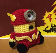 The Flash Minion PDF Pattern Crochet for Amigurumi by JAMigurumi