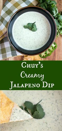 Chuy's Creamy Jalapeno Dip will make you feel like you're at the restaurant! This bold and flavorful dip has a few simple ingredients that gets even better as it rests. You'll want to drizzle, dip and dunk it with everything Mexican Food Recipes, Vegetarian Recipes, Cooking Recipes, Vegan Meals, Yummy Recipes, Healthy Dip Recipes, Healthy Dips, Vegetarian Lunch, Copycat Recipes