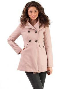 "Palton ""Hood Muse"" Pink Muse, Coat, Jackets, Fashion, Down Jackets, Moda, Sewing Coat, Fashion Styles, Peacoats"