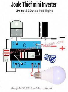 Membuat lilitan transformer joule thief mini inverter to AC Light Basic Electronic Circuits, Electronic Circuit Projects, Electrical Projects, Rfid Arduino, Joule Thief, Sony Led Tv, Electronics Mini Projects, Electrical Circuit Diagram, Power Supply Circuit