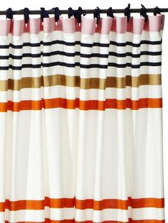 Buy Two Standard 72 X Shower Curtains And Hang Them With Curtain Rings Or Ribbon Kate Spade New York Candy Shop Stripe