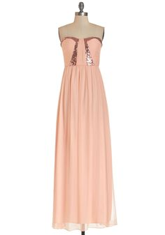 No one will be able to touch your moves on the dance floor in this elegant maxi (parachute pants sold separately).