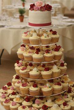 Cupcake Tower instead of wedding cake!