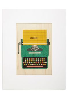 Typewrite Away Print, #ModCloth