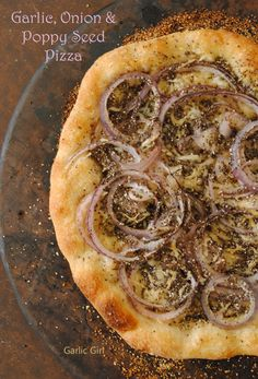 Garlic, Onion and Poppy Seed #Pizza