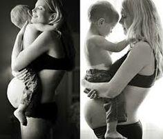 foto gravida com filho mais velho