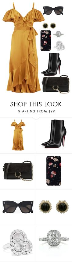"""Untitled #580"" by catarina-de-sousa-lopes on Polyvore featuring Temperley London, Christian Louboutin, Chloé, CÉLINE, Chopard and Mark Broumand"