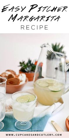 Looking for pitcher cocktail recipes? I love these easy to make large batch margaritas! Perfect for Cinco de Mayo and beyond!