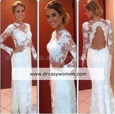 Buy New Arrival Custom Made Elegant Lace Evening dress with Long Sleeves http://www.dressywomen.com/new-arrival-custom-made-elegant-lace-evening-dress-with-long-sleeves-ds-a1.html
