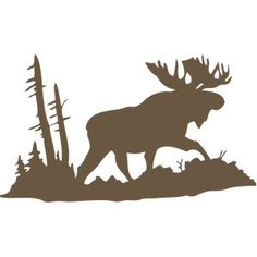 Silhouette Design Store: Welcome Winter Moose Moose Silhouette, Animal Silhouette, Silhouette Design, Silhouette Machine, Moose Tattoo, Moose Head, Wood Burning Patterns, Scroll Saw Patterns, Silhouette Cameo Projects