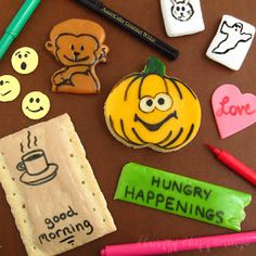 Hungry Happenings: Tips on how to use edible ink food coloring markers to draw on foods.