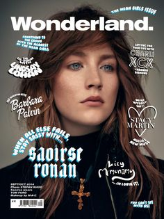 Saoirse Ronan is one of four cover girls for the September/October issue of Wonderland magazine. The editorial inside, shot by Stefan Khoo, highlights Ronan's sad, intelligent, impossibly pale eyes...