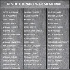 Our Chapter Revolutionary Soldiers