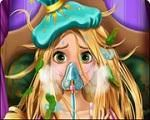 Em Rapunzel Gripada, Rapunzel estava namorando com Flynn quando começou a chover e Rapunzel ficou gripada. Agora você precisa ajudar nossa princesa Rapunzel ficar curada. Use suas habilidades de medica e cuide de nossa princesa. Divirta-se com Rapunzel!