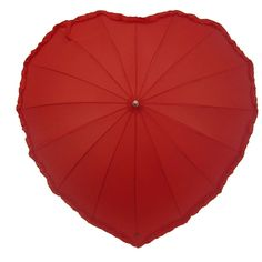 Red heart umbrella! How sweet! ...they even have a black heart one ;)