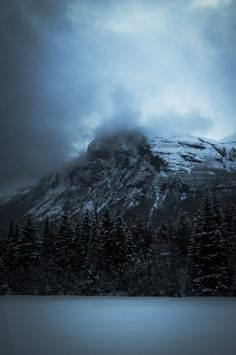 Misty Mountain by Kristin Lauritzen on 500px  http://freshnewdesign.wordpress.com/   #Misty #Norway #blue #cloud #cold #fog #mountain #sky #snow #trees #winter