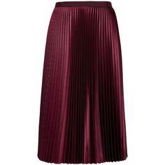 Ted Baker Pleated Midi Skirt (52.420 HUF) ❤ liked on Polyvore featuring skirts, elastic waist skirt, patterned midi skirt, pleated a line skirt, print midi skirt and metallic pleated skirt