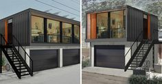 shipping container house with garage - Google Search