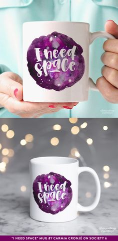 I need space mug by Carmia Cronjé on Society6.com. The perfect gift for a space lover, this hand painted nebula design will delight the hearts of your friends.