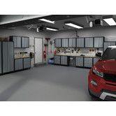Found it at Wayfair - RTA Series Cabinet Set Garage Storage Systems, Garage Storage Cabinets, Tool Storage, Garage Workshop Plans, Clean Garage, Cleaning Hacks, Man Cave, Layout, Yahoo Search
