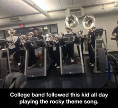 Haha sounds like something our band would do. We can play the rocky THEM by heart xD