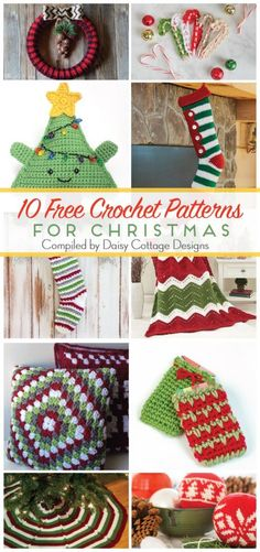 These free crochet patterns are perfect for the holidays. These Christmas crochet patterns are a festive way to decorate your home for the holidays!