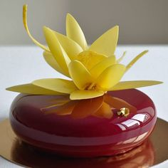My favourite eclipse and chocolate flower... #chocolateflower#pastry