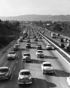Hollywood Freeway, Los Angeles, 1950s- some things NEVER change