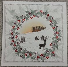 Christmas with Tapestry stamps and Card io stamps 1