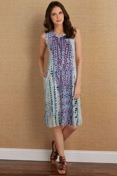 Soft Surroundings Dresses & Caftans - Peace Out Dress Easy To Love, Overall Dress, Soft Surroundings, Stylish Dresses, Tie Dye, Tunic, Summer Dresses, Peace, Late Summer