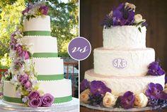 Purple And Green Wedding Ideas | Green vs. Purple Wedding Cakes