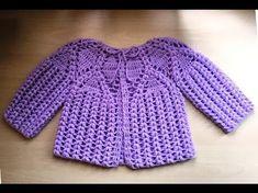 Magnifique brassière bébé au crochet 2 / Chaquetita bebe tejida a crochet 2 - YouTube