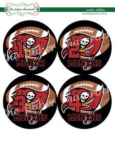 Tampa Bay Buccaneers Onesie Stickers