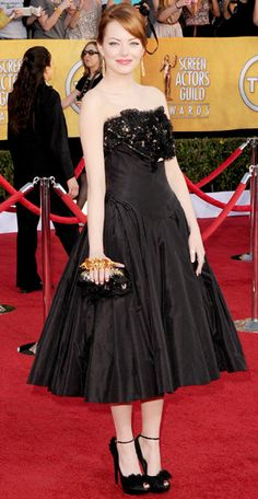 Emma Stone in Alexander McQueen 2012 SAG Awards