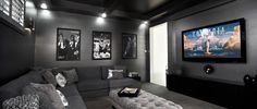 Home Cinema Room - great colour and wall art!!