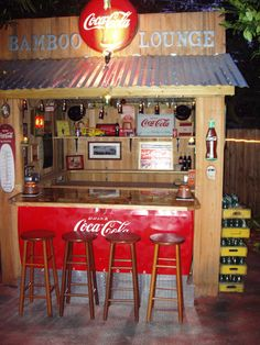 Would love to have a backyard hangout like this! I LOVE Coca Cola!