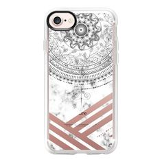 Marble mandala marble - iPhone 7 Case And Cover (57 NZD) ❤ liked on Polyvore featuring accessories, tech accessories, iphone case, iphone cases, apple iphone case, iphone cover case and clear iphone case