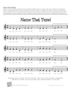 Free Music Theory Worksheets | MakingMusicFun.net--Sentences that ...