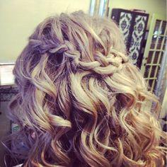 #braids #curls #bridalhair