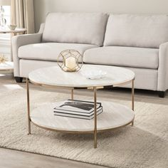 @ Stamper Faux Stone Coffee Table By Stone Coffee Table, Diy Coffee Table, Round Coffee Table, Decorating Coffee Tables, Modern Coffee Tables, Living Room Coffee Tables, Centre Table Living Room, Faux Marble Coffee Table, Living Room Furniture