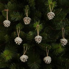 Buy John Lewis Pine Cone Decorations, Gold, x12 online at JohnLewis.com - John Lewis