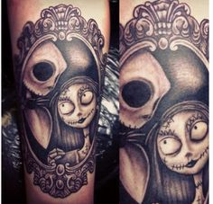 Jack and sally tattoo. I will have this when I'm 18.