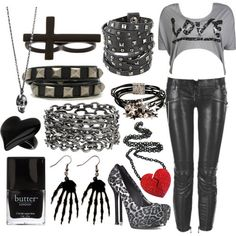 EMO OUTFITS  | ... http://www.polyvore.com/emo_goth_scene_love_outfits/collection?id=8