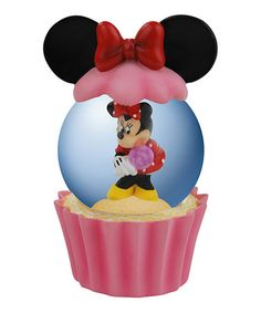 Another great find on #zulily! Minnie Cupcake Snow Globe by Minnie Mouse #zulilyfinds