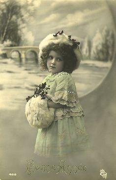 Vintage Postcard ~ Winter Girl | Flickr - Photo Sharing!