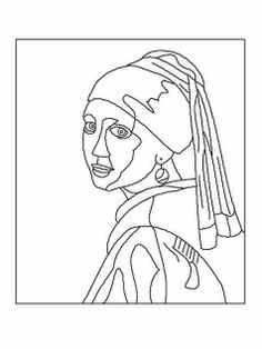 Incredible Coloring Pages World :: Pages of free artwork and tradition coloring pages to obtain and . Johannes Vermeer, Desenhos Van Gogh, Art Sketches, Art Drawings, Culture Art, Rembrandt, Colouring Pages, Free Coloring, Coloring Book
